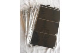 Gebruikt (met stickertjes/plakkertjes); Partij van 21 stuks Importa PSIII Bladen Transparant Luxe met zwarte kaartjes voor 126 FDC's!