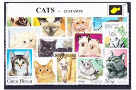 Importa Postzegelpakket KATTEN (25 verschillende zegels)
