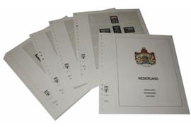 Lindner Inhouden / T-Voordruk albumbladen met folie voorbladen met stroken (Inhoud) Nederland 1980-1989 in kleur (34 bladen) (Lindner 191-80)