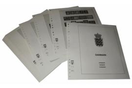 Lindner Inhouden / T-Voordruk albumbladen met folie voorbladen met stroken (Inhoud) Denemarken met Sleeswijk, Thule en Deens West-Indië 1972-1990 (43 bladen) (Lindner 128A)