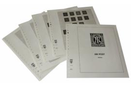 Lindner Inhouden / T-Voordruk albumbladen met folie voorbladen met stroken (Inhoud) Duitsland 1945-1949; AM Post speciaal 1945-1946 (9 bladen) (Lindner 118S)