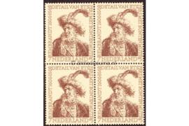 Nederland NVPH 673 Postfris (7 + 5 cent) (Blokje van vier) Zomerzegels (Rembrandt) 1956