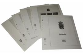 Lindner Inhouden / T-Voordruk albumbladen met folie voorbladen met stroken (Inhoud) Denemarken met Sleeswijk, Thule en Deens West-Indië 1960-1971 (15 bladen) (Lindner 128-60)