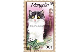 Mongolië Michel 2329 Gestempeld Katten 1991