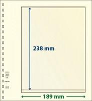 Lindner dT-Blanco blad met 1 strook (Lindner dT802107) (per stuk)