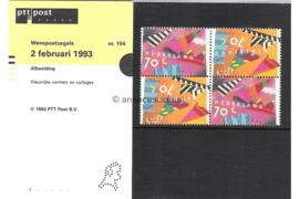 Nederland NVPH M104 (PZM104) Postfris Postzegelmapje Wenszegels 1993