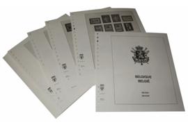 Lindner Inhouden / T-Voordruk albumbladen met folie voorbladen met stroken (Inhoud) België 1957-1964 (33 bladen) (Lindner 127-57)