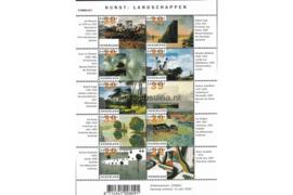 Nederland NVPH V2089-2098 Postfris Velletje Kunst: Landschappen 2002