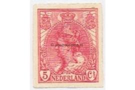 Nederland NVPH 82 Postfris (5 cent) Koningin Wilhelmina (ongetand) 1923