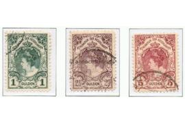 NVPH 77-79 Gestempeld (bep. serie) Koningin Wilhelmina 1899-1905