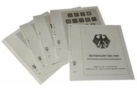 Lindner Inhouden / T-Voordruk albumbladen met folie voorbladen met stroken (Inhoud) Duitsland 1945-1949; Amerikaanse- en Britse bezettingszone 1945-1949 (12 bladen) (Lindner 118B)