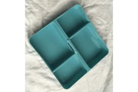 Was- en sorteerschaaltje met 4 vakken Blauw