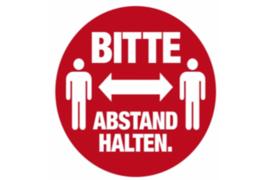 """Herma Gebodsticker """"Bitte Abstand Halten"""" (ø 10cm) 1 Sticker (Herma 12924PS)"""