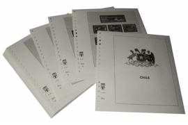 Lindner Inhouden / T-Voordruk albumbladen met folie voorbladen met stroken (Inhoud) Chili 1986-1991 (39 bladen) (Lindner 505-86)