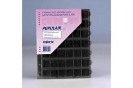 Importa Populair SETJE VAN: 4 x 42 Vaks Muntbladen met schuifjes & 4 Zwarte Schutbladen (Importa 0842z)