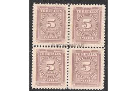 NVPH P34 Postfris (5 cent) (Blokje van vier) Cijfer 1945