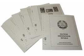 Lindner Inhouden / T-Voordruk albumbladen met folie voorbladen met stroken (Inhoud) Duitse Democratische Republiek 1980-1984 (47 bladen) (Lindner 121-80)