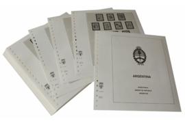 Lindner Inhouden / T-Voordruk albumbladen met folie voorbladen met stroken (Inhoud) Argentinië 1985-1991 (51 bladen) (Lindner 461-85)