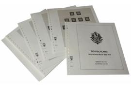 Lindner Inhouden / T-Voordruk albumbladen met folie voorbladen met stroken (Inhoud) Duitse Rijk 1872-1923 (26 bladen) (Lindner 112)
