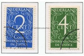 Nederland NVPH D25-D26 Gestempeld COUR INTERNATIONALE DE JUSTICE Van Krimpen