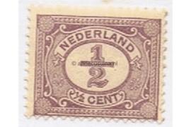 Nederland NVPH 50 Gestempeld (1/2 cent) Cijfer Vürtheim 1899-1913