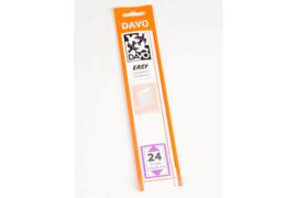 DAVO Easy stroken transparant T24 (215 x 28) 25 stuks