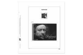 DAVO Luxe blad Nederland Rembrandt/Saskia postzegel (Blad 182a)