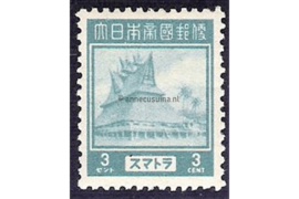 Sumatra NVPH JS3 (3 cent) Ongebruikt Frankeerzegels 1943-1944