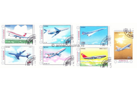Mongolië Michel 1626-1632 Gestempeld Vliegtuigen 1984