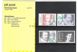 Nederland NVPH M11 (PZM11) Postfris Postzegelmapje Zomerzegels 1983