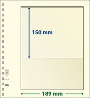 Lindner T-Blanco blad met 1 strook (Lindner 802101) (per stuk)