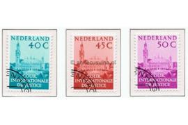 Nederland NVPH D41-D43 Gestempeld COUR INTERNATIONALE DE JUSTICE Aanvullingswaarden Vredespaleis