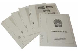 Lindner Inhouden / T-Voordruk albumbladen met folie voorbladen met stroken (Inhoud) China Volksrepubliek 1966-1976 (42 bladen) (Lindner 159-66)