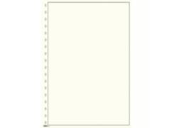 Lindner Blanco blad  Wit karton, Zwarte kaderlijn (190 x 285) (Lindner 804) (per stuk)