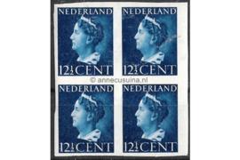 Nederland NVPH 336v Postfris (12 1/2 cent) (Blokje van vier) Koningin Wilhelmina 1940-1947