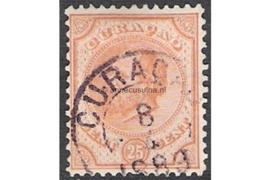 CURAÇAO 8-4-1889 op NVPH 7D FOTOLEVERING