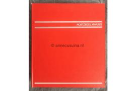 Nette staat! Gebruikt Rood/Wit Importa album voor Postzegelmapjes (PZM) + 11 Bladen voor 22 postzegelmapjes + 12 Rode Schutbladen
