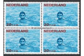 Nederland NVPH 872 Postfris (20 + 10 cent) (Blokje van vier) Kinderzegels, levensstadia kinderen 1966