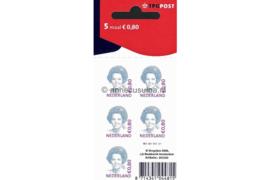 Nederland NVPH Vaa2392 Postfris Velletje 5 x 0,80 euro met TPG Post logo Open Hangoog