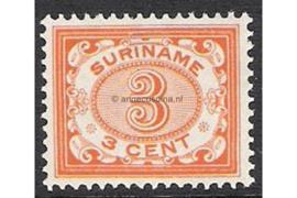 Kleurafwijking! Dieporanje NVPH 45 Postfris FOTOLEVERING (3 cent) Cijfer 1902-1908