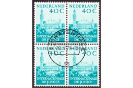 Nederland NVPH D41 Gestempeld (40 cent) (Blokje van vier)Aanvullingswaarden Vredespaleis 1977