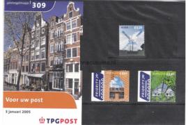 Nederland NVPH M309 (PZM309) Postfris Postzegelmapje Voor uw post 2005