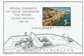 Postfris Zegelvel Getande versie f 5,-- Opening Eemshaven en nieuwe havenmond van Delfzijl