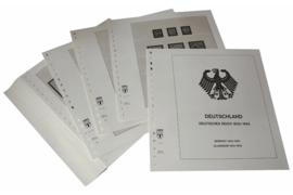 Lindner Inhouden / T-Voordruk albumbladen met folie voorbladen met stroken (Inhoud) Duitse Rijk 1933-1945 (43 bladen) (Lindner 116)