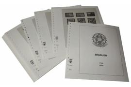 Lindner Inhouden / T-Voordruk albumbladen met folie voorbladen met stroken (Inhoud) Brazilië 1982-1986 (38 bladen) (Lindner 480-82)