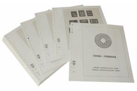 Lindner Inhouden / T-Voordruk albumbladen met folie voorbladen met stroken (Inhoud) China-Taiwan (Formosa) 1960-1969 (incl. Portzegels 1948-1998) (39 bladen) (Lindner 164-60)