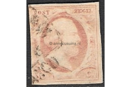 NVPH 2  Gestempeld FOTOLEVERING (10 cent) 1e emissie Koning Willem III 1852