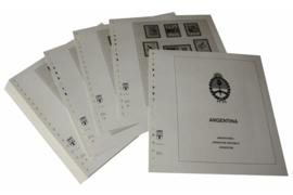 Lindner Inhouden / T-Voordruk albumbladen met folie voorbladen met stroken (Inhoud) Argentinië 1978-1984 (44 bladen) (Lindner 461-78)