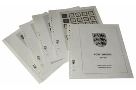 Lindner Inhouden / T-Voordruk albumbladen met folie voorbladen met stroken (Inhoud) Württemberg 1851-1923 (11 bladen) (Lindner 111)