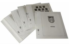 Lindner Inhouden / T-Voordruk albumbladen met folie voorbladen met stroken (Inhoud) Danzig 1920-1939 (32 bladen) (Lindner 109)